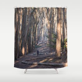 Andy Goldsworthy Wood Line, San Francisco Photography, California Fine Art, Woodland, Enchanted Forest Home Decor Shower Curtain