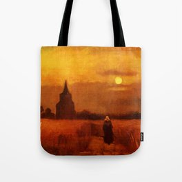 Vincent Van Gogh The Old Tower In The Fields Tote Bag