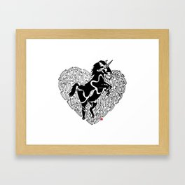 Food Love Framed Art Print