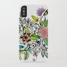 Floral White iPhone X Slim Case