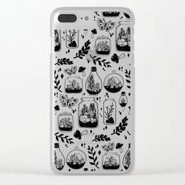 Terrariums Galore (Light) Clear iPhone Case