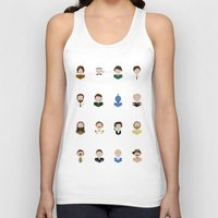 robin williams Tank Tops featuring The Faces of Robin Williams by Dorothy Leigh