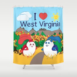 Ernest and Coraline | I love West Virginia Shower Curtain