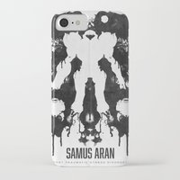 psychology iPhone & iPod Cases featuring Samus Aran Metroid Geek Psychological Diagnosis Ink Blot  by Barrett Biggers