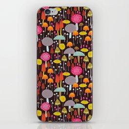 dark toadstools and mushrooms iPhone Skin