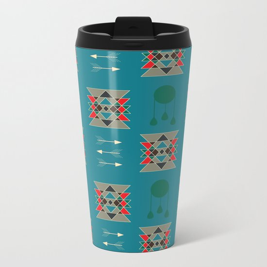 dreamcatcher blue Metal Travel Mug