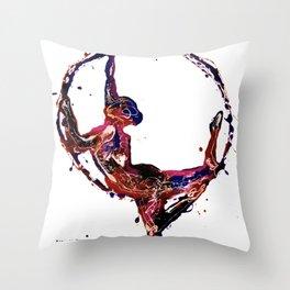 Splatter Hoop Throw Pillow