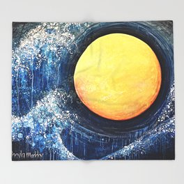Hikari Moon Throw Blanket