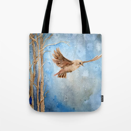 Snow Wanderer Tote Bag