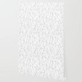 Geometric Cobweb (Gray & White Pattern) Wallpaper