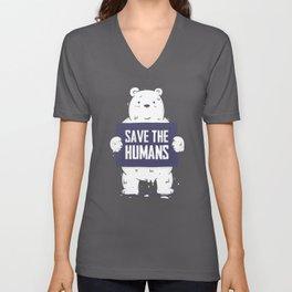 Save The Humans Unisex V-Neck