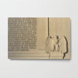 Wall at the Lincoln Memorial Metal Print