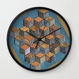 Tumbling Blocks #5 Wall Clock