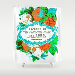 Proverb 31 Women's short sleeve t-shirt christian scripture design Shower Curtain
