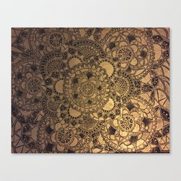 Mandala in Gold Canvas Print