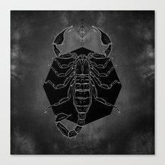 Scorpion Vignette Canvas Print