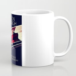 London Edinburgh Locomotive vintage style poster Coffee Mug