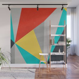 Aggressive Color Block Wall Mural