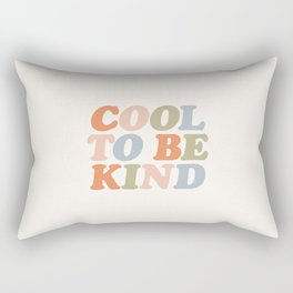 COOL TO BE KIND pastel orange pink green and blue Rectangular Pillow