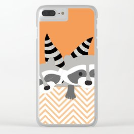 Raccoons Clear iPhone Case