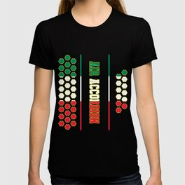 Accordion music Italy flag buttons gift T-shirt