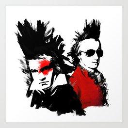 Beethoven Mozart Punk Composers Art Print