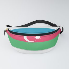 Flag of Azerbaijan. The slit in the paper with shadows. Fanny Pack