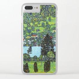 Gustav Klimt - Slope at Unterach Clear iPhone Case