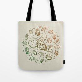 Triceratops Rocks! | Leaf Green & Pumpkin Spice Ombré Tote Bag