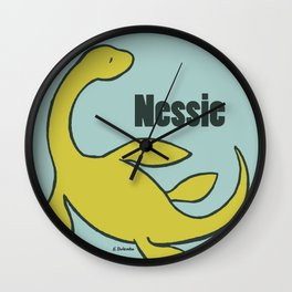 Nessie - The Loch Ness Monster (green) Wall Clock