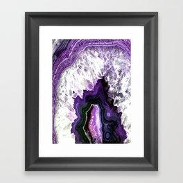 Ultra Violet Agate Illustration Framed Art Print