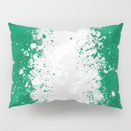 Nigeria Flag - Messy Action Painting Pillow Sham