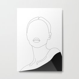 Elegant Woman Portrait Metal Print
