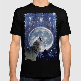 A One Wolf Moon T-shirt