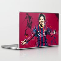 messi Laptop & iPad Skins featuring Lionel Messi by Simeon Elson