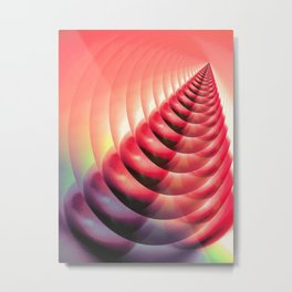 Cherry Cone Abstract Metal Print