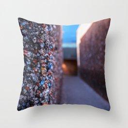 Do you dare enter Bubblegum Alley Throw Pillow