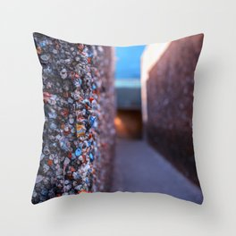 Do you dare enter Bubblegum Alley Throw Pillow