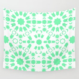 Mint Arabesque Wall Tapestry