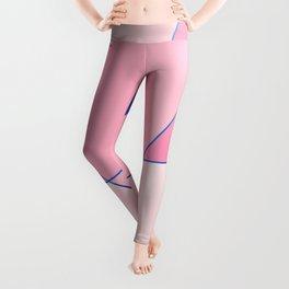 Pink Posh geometric pattern for home decoration Leggings