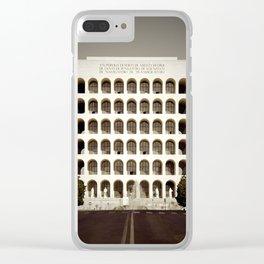 Square Coliseum Clear iPhone Case