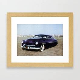 Jerry Quesnel '49 Merc Colorized Pot Framed Art Print