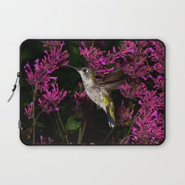 Hovering hummingbird and agastache 59 Laptop Sleeve