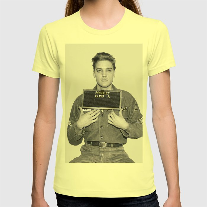 ELVIS PRESLEY - ARMY MUGSHOT T-shirt by bizarrojerry | Society6