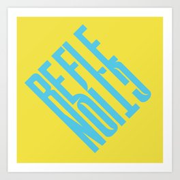 Reflection (Yellow) Art Print