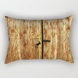 Old Wooden Doors Rectangular Pillow