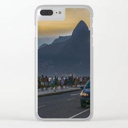 Ipanema Sidewalk Rio de Janeiro Brazil Clear iPhone Case