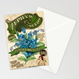 Forget-Me-Nots Seed Packet Template Stationery Cards