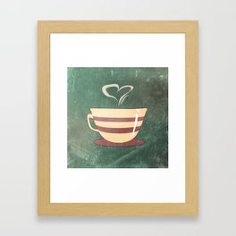Coffee is love illustration Framed Art Print