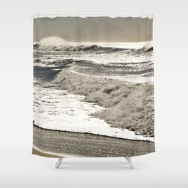 Wave to the wind - strong and powerful Shower Curtain